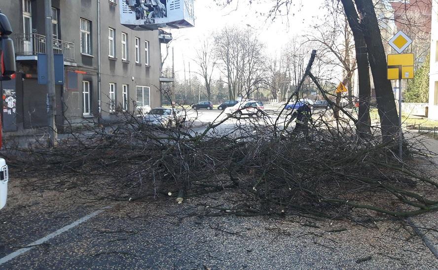 Dalsze skutki wichur. Przerwana dostawa energii cieplnej w Katowicach. Setki zerwanych dachów. Dwaj ranni strażacy OSP.