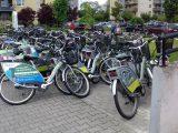 Hałdy węgla w Katowicach zastąpiły hałdy rowerów. A z wózkiem dziecięcym? Czasami trzeba na asfalt.