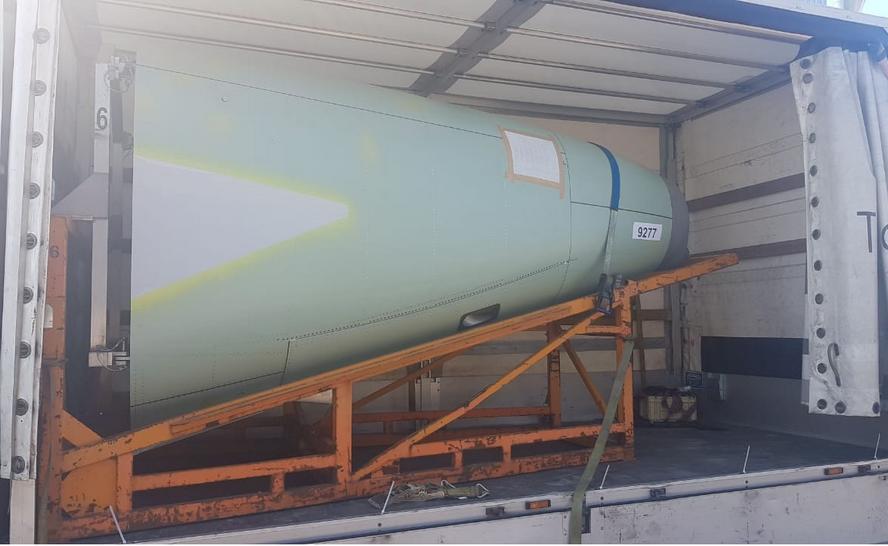 Katowicka firma transportowa przewoziła elementy rakiety kosmicznej.
