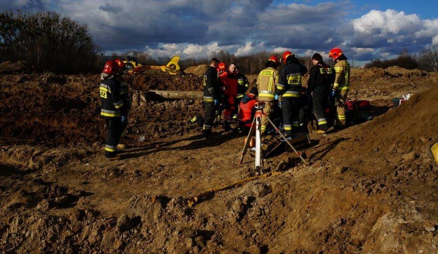 Straszny wypadek podczas prac związanych z budową kanalizacji.