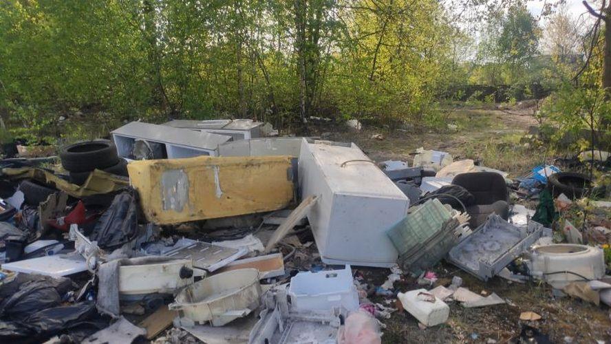 Mysłowiczanin podjechał specjalnie do Katowic. By katowiczanom zostawić w prezencie swe śmieci.