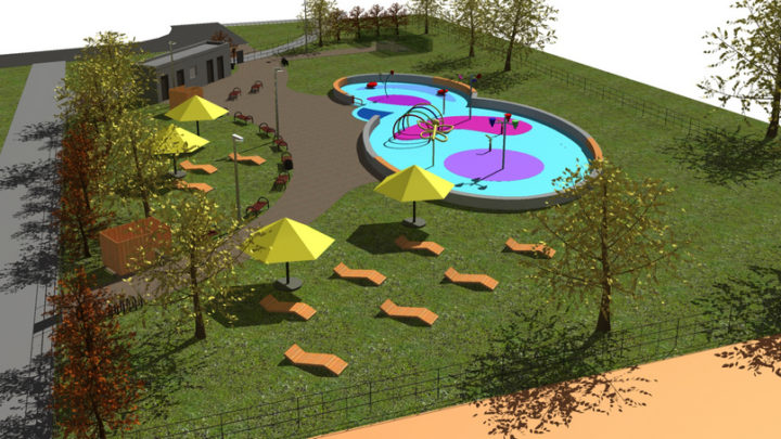 Kolejny wodny plac zabaw powstaje w Katowicach.  Rusza budowa trzeciego wodnego placu zabaw w Katowicach.