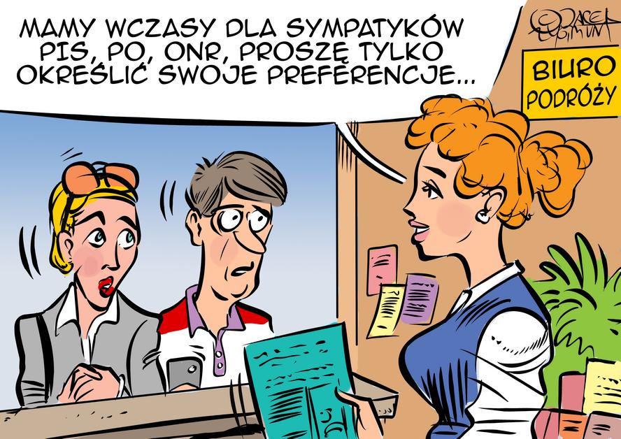 Jacek Zygmunt z Katowic – wakacyjnie – ale nie tylko. W kolejnych rysunkach: boski widok i jak zarobić pieniądze.