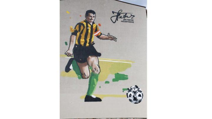 Jan Furtok, legenda GKS Katowice, ma swój mural.