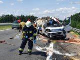 Tragedia na A4. W Imielinie, na pasach do Katowic, doszło do bardzo poważnego wypadku.